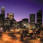 Charlotte's Downtown Skyline by Night