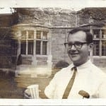 Richard Brod, Yale Univ., Trumbull Courtyard, June 1966